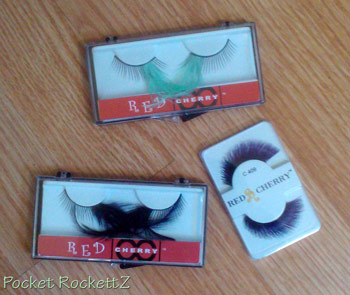 fun red cherry eyelashes for play time