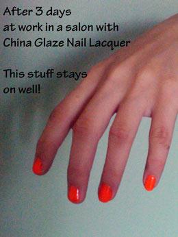 hard nail polish that didn't chip away at work